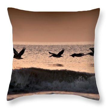 Predawn Formation Throw Pillow