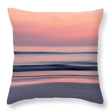 Predawn Surf I Throw Pillow