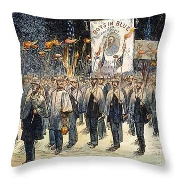 Pres. Campaign, 1876 Throw Pillow by Granger
