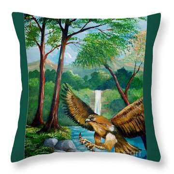 Presa Atrapada Throw Pillow