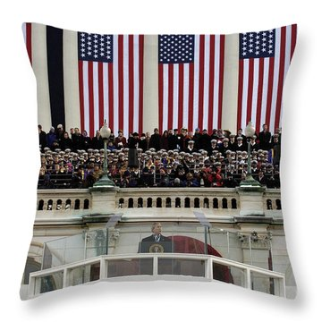 President George W. Bush Makes Throw Pillow by Stocktrek Images