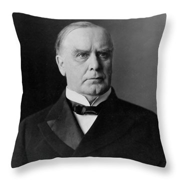 President William Mckinley Throw Pillow by International  Images
