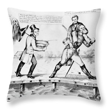 Presidential Campaign, 1852 Throw Pillow by Granger