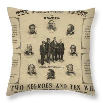 Presidential Election, 1876 Throw Pillow by Granger
