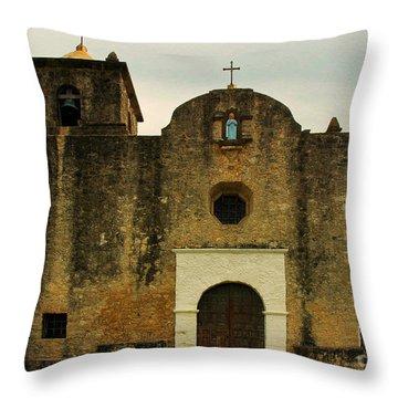 Throw Pillow featuring the photograph Presidio La Bahia by Vivian Christopher