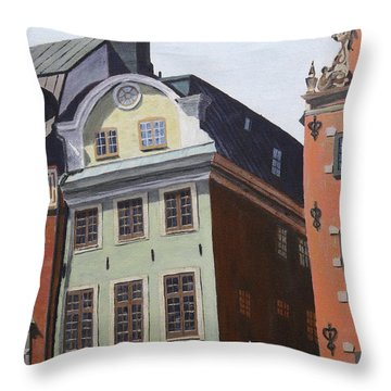 Pretty Faces Throw Pillow by Alan Mager