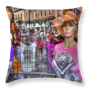 Pretty Pink And Dangerous Throw Pillow