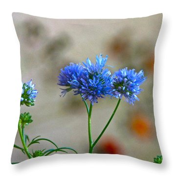 Pretty Weeds Throw Pillow by Byron Varvarigos