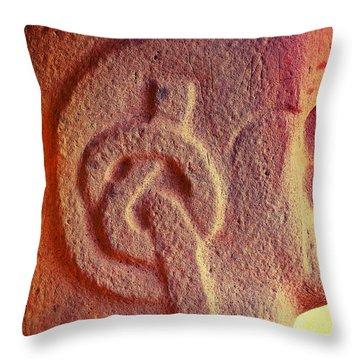 Pretzel Logic Throw Pillow by Skip Hunt