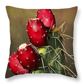 Prickley Pear Fruit Throw Pillow