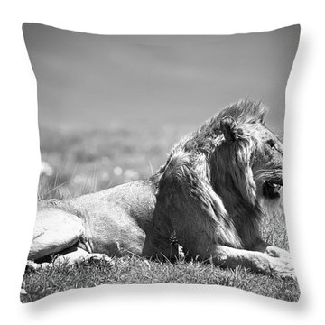 Pride In Black And White Throw Pillow by Sebastian Musial
