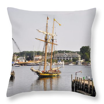 Pride Of Baltimore II Pb2p Throw Pillow by Jim Brage