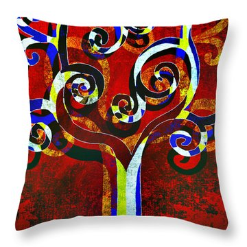 Primary Throw Pillow by Angelina Vick