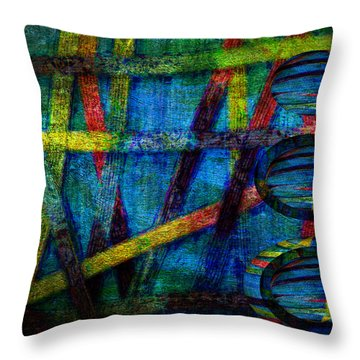 Primary Three Rectangle Throw Pillow by Angelina Vick