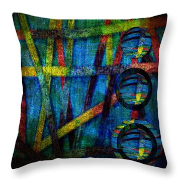 Primary Three Square Throw Pillow by Angelina Vick