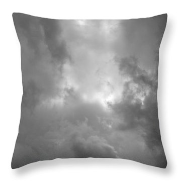 Primordial In Black And White Throw Pillow by Suzanne Gaff