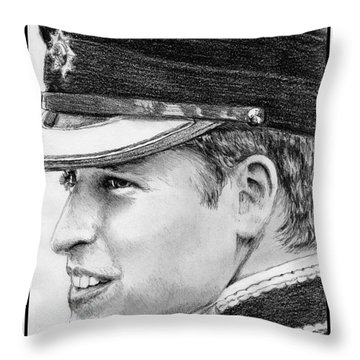 Prince William In 2011 Throw Pillow by J McCombie
