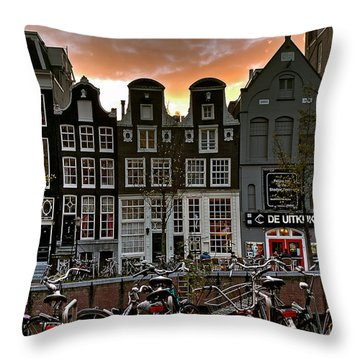 Prinsengracht 458. Amsterdam Throw Pillow