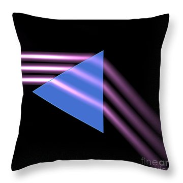Throw Pillow featuring the digital art Prism 1 by Russell Kightley