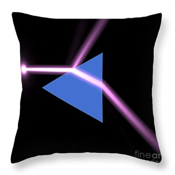 Throw Pillow featuring the digital art Prism 3 by Russell Kightley