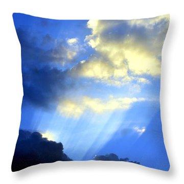 Prismed Throw Pillow by Maria Urso