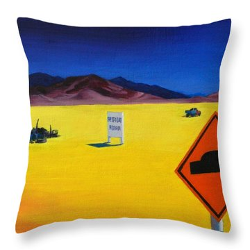 Private Property, Peru Impression Throw Pillow
