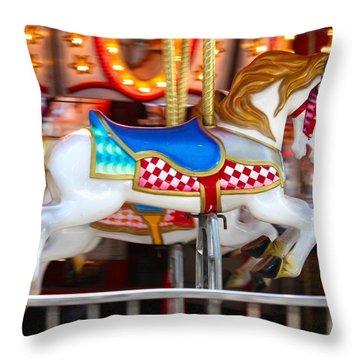 Prized Stallion Throw Pillow by Patrick Witz