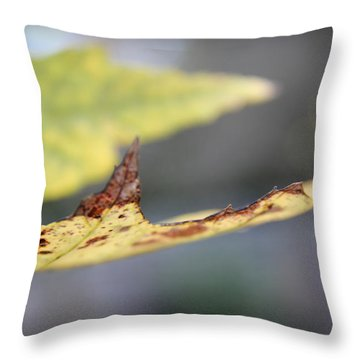 Profile Of A Leaf Throw Pillow