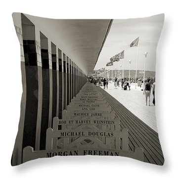 Promenade Des Planches Throw Pillow by RicardMN Photography