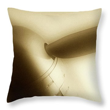 Propeller Plane  Throw Pillow
