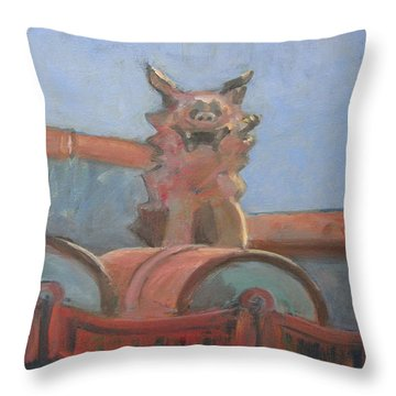 Protector In Okinawa Throw Pillow