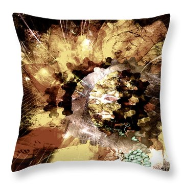 Throw Pillow featuring the digital art Protein Art by Danica Radman