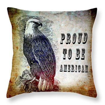 Proud Throw Pillow by Angelina Vick