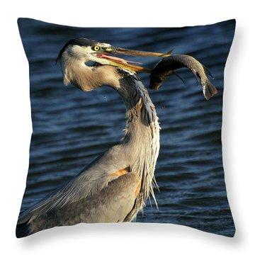 Proud Fisherman Throw Pillow by Sabrina L Ryan