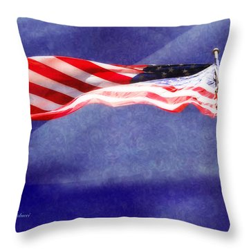 Throw Pillow featuring the photograph Proud by Joan Bertucci