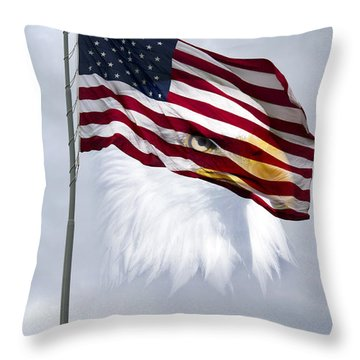 Flagpole Throw Pillows