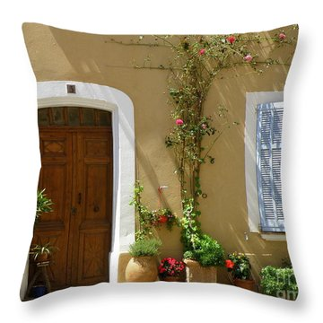 Provence Door 3 Throw Pillow by Lainie Wrightson