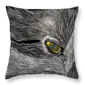 Throw Pillow featuring the drawing Prowl by Lisa Brandel