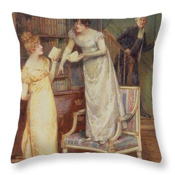 Prying Eyes Throw Pillow by Henry Gillard Glindoni