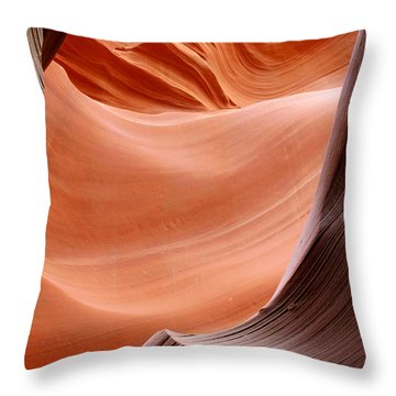 Psychedelic Art - Antelope Canyon Throw Pillow by Christine Till