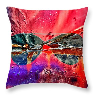 Psychedelic Spectacle  Throw Pillow by Jerry Cordeiro