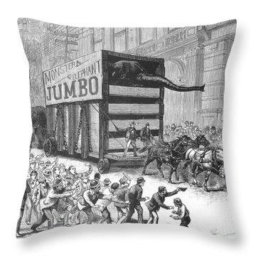 P.t. Barnum/jumbo Throw Pillow by Granger