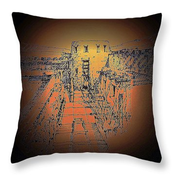 Pueblo 3 Throw Pillow