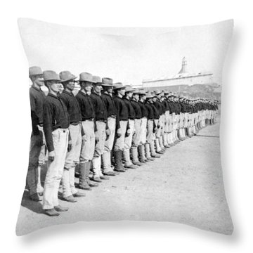 Puerto Ricans Serving In The American Colonial Army - C 1899 Throw Pillow by International  Images