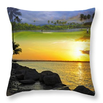 Puerto Rico Montage 3 Throw Pillow by Stephen Anderson