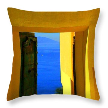Puerto Vallarta Portal Throw Pillow