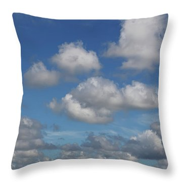 Puff Clouds Throw Pillow