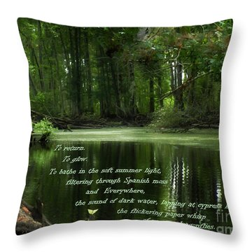 Throw Pillow featuring the photograph Pull Of Place by Deborah Smith