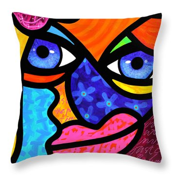 Pull Yourself Together Throw Pillow by Steven Scott