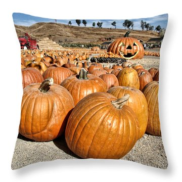 Pumpkin Patch 3 Throw Pillow